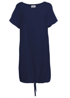 T-shirt dress navy blue