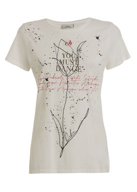 Women's print t-shirt white
