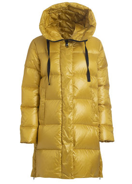 Women's long padded coat yellow