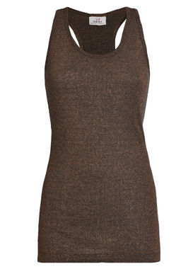 Women's shimmering top bronze