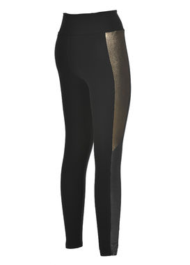 Leggings with metallic details