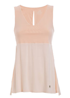 Light tank top with side slits peach
