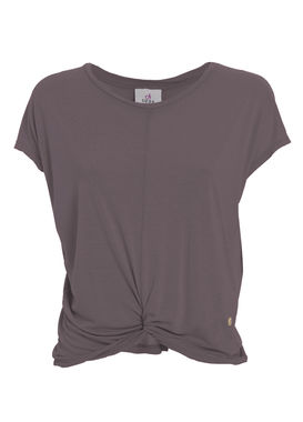 T-shirt with a knot dusty lilac