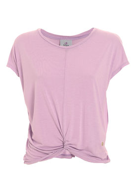 T-shirt with a knot pale pink