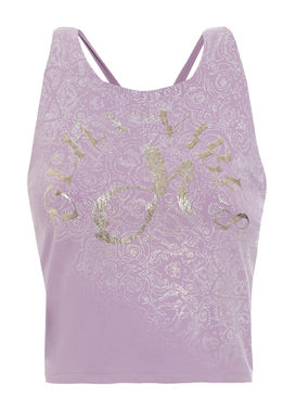 Sleeveless sports top pale pink