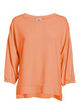 Orange sweatshirt  with 3/4 sleeves