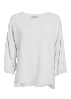 White sweatshirt  with 3/4 sleeves