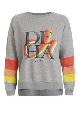 Grey sweatshirt with a print