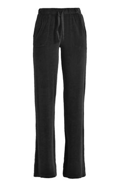 Women's velour pants black