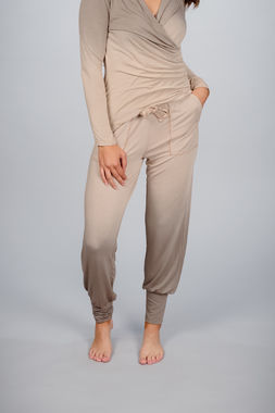 Women's casual ombre rib pants