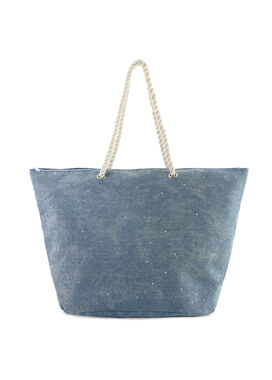 Women's bag in jeans fabric