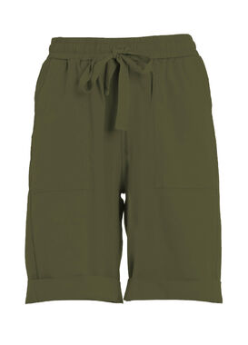 Olive green summer shorts for women