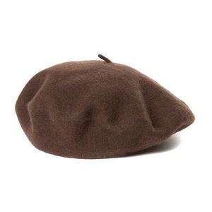 Woollen beret brown