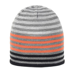 Kids' reversible striped beanie