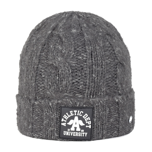 Kids' knit beanie grey