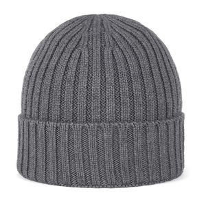 Merino wool beanie dark grey