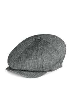 Mens flat cap, dark grey