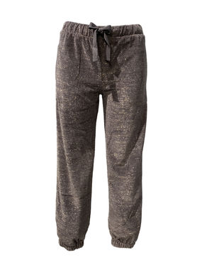 Glittering velour pants, grey
