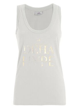 White print tank top organic cotton