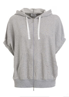 Short sleeved hoodie gray