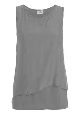 Women's double layered silk tank top