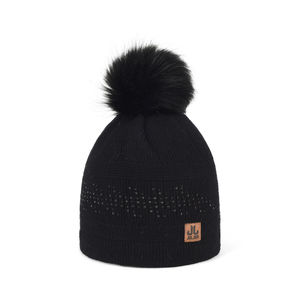 Embellished knit beanie TOOTING black