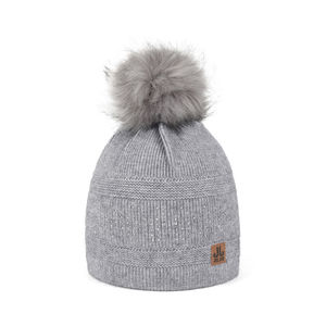 Embellished knit beanie TOOTING grey