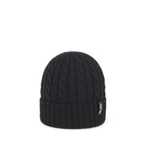 Wool beanie FIRST black