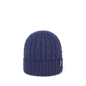 Wool beanie FIRST navy blue