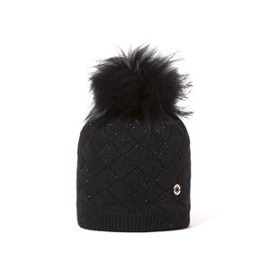 Beanie with rhinestones CLAYTON black