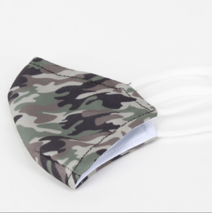 Army print kids' face mask