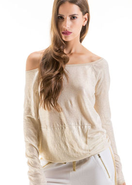 Women's golden long sleeved shirt