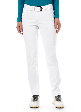 Women's white golf trousers