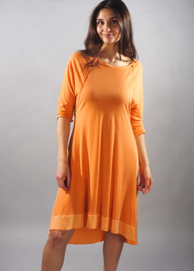 Orange dress with 3/4 sleeves