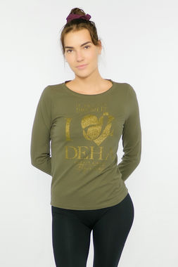 Deha women's long sleeve t-shirt with print