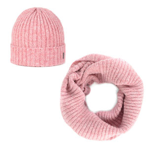 Beanie and scarf set rose