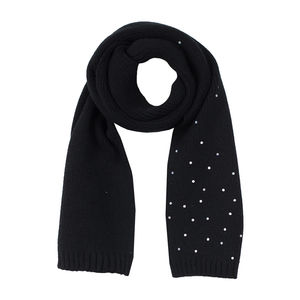 Kids' embellished scarf black