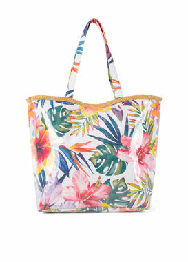 Big waterproof bag with flower print