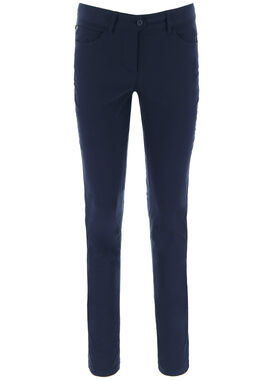 Women's long golf pants navy blue