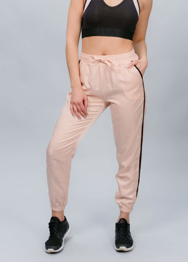 Baby pink track pants