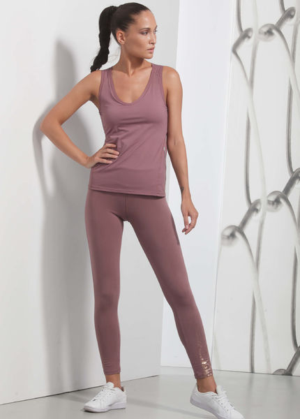 High waisted leggings, plum