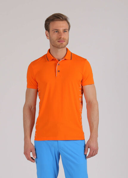 Men's orange golf t-shirt