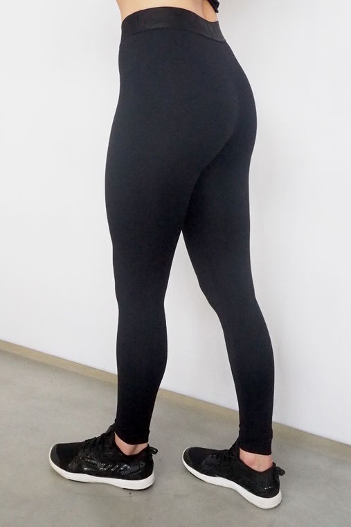 Women's leggings with silicon waistband