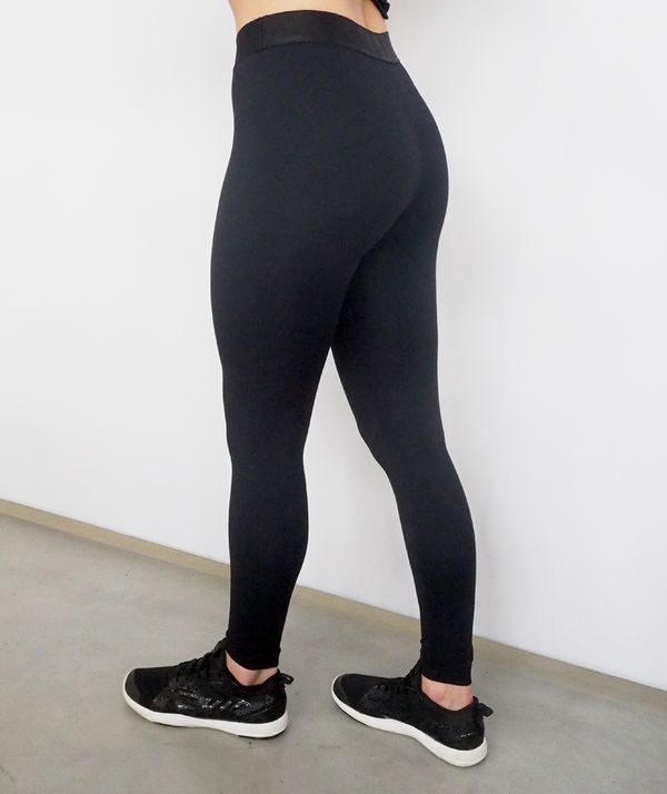 Tights without print with silicon on waist